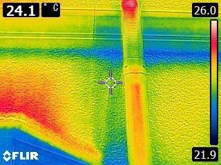 赤外線カメラによる雨漏り調査